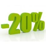 20 % sleva na vše!